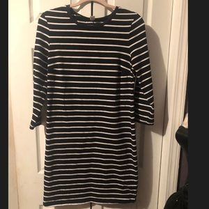 Old Navy striped tee shirt dress 3/4 sleeves